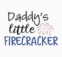 Daddy's Little Firecracker Kids Tee