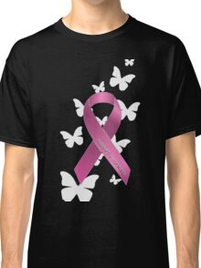 Pink Ribbon Support Breast Cancer Awareness Classic T-Shirt