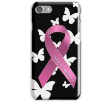Pink Ribbon Support Breast Cancer Awareness iPhone Case/Skin