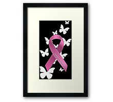 Pink Ribbon Support Breast Cancer Awareness Framed Print
