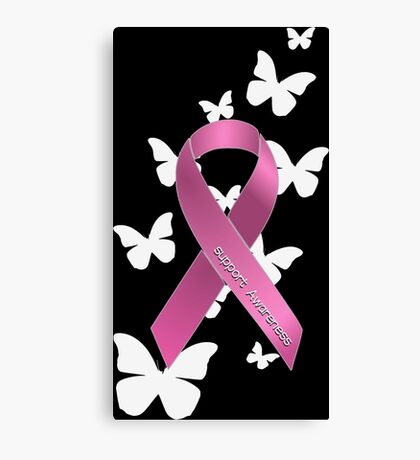 Pink Ribbon Support Breast Cancer Awareness Canvas Print