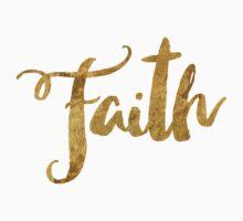 Golden Look Faith Baby Tee