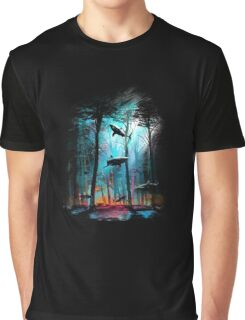 Shark In Forest Graphic T-Shirt