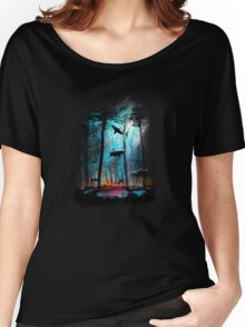 Shark In Forest Women's Relaxed Fit T-Shirt