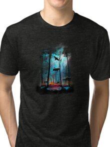 Shark In Forest Tri-blend T-Shirt