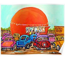 CANADIAN ART COLORFUL CANADIAN PAINTINGS POPULAR MONTREAL DRIVE-INS CAROLE SPANDAU Poster
