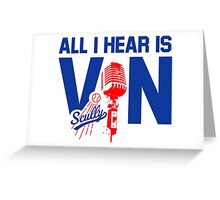 vin scully shirt Greeting Card