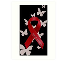 Support Red Ribbon Awareness Art Print