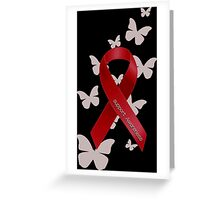 Support Red Ribbon Awareness Greeting Card