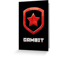 Gambit Gloss - Red Greeting Card