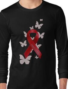 Support Red Ribbon Awareness Long Sleeve T-Shirt