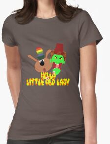 """Chorlton & Kettle Witch-""""Hello, Little Old Lady"""" Womens Fitted T-Shirt"""