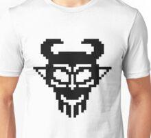 Pixel Devil - Stencil Style - Black Version Unisex T-Shirt