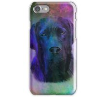 Black Labrador Dog Water Colorful Art Painting iPhone Case/Skin