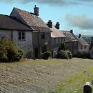 Looking down Gold Hill, Shaftesbury in Dorset by trish725