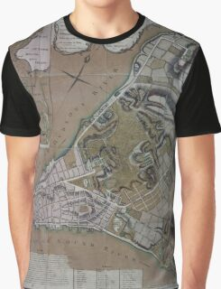 444 Plan of New York City of New York and its environs to Greenwich Town Survey'd in the winter 1775 Graphic T-Shirt