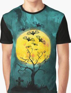 Graveyard Tree Graphic T-Shirt