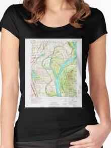 USGS TOPO Map Arkansas AR Jericho 260125 1975 62500 Women's Fitted Scoop T-Shirt