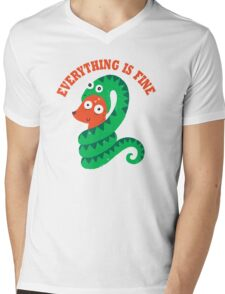 Everything Is Fine Mens V-Neck T-Shirt