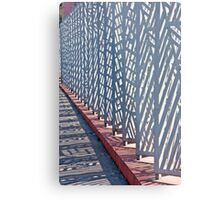 Contemporary Fence Metal Print