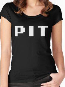 Tecmo Bowl Pittsburgh Steelers Football 8-Bit NES Nintendo Pixel Type Shirt T-shirt Women's Fitted Scoop T-Shirt