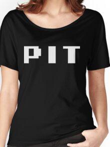 Tecmo Bowl Pittsburgh Steelers Football 8-Bit NES Nintendo Pixel Type Shirt T-shirt Women's Relaxed Fit T-Shirt