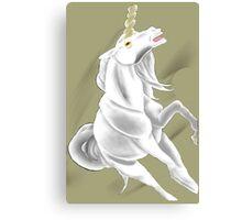 Birthstone Unicorns: April, Diamond Canvas Print