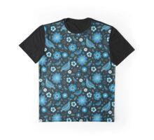 blue petals blue birds Graphic T-Shirt