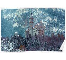 Neuschwanstein Castle Under Snow Poster