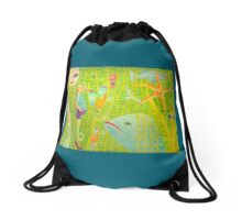 Sea People Drawstring Bag