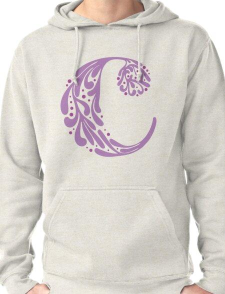 """""""C"""" ~ Purple Pullover Hoodie"""