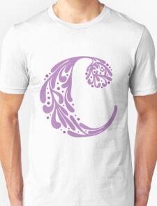 """C"" ~ Purple Unisex T-Shirt"