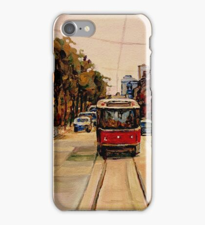 PAINTINGS OF TORONTO TRAMS iPhone Case/Skin