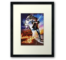 Back To The Future -Ink n Painted Framed Print