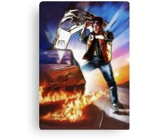 Back To The Future -Ink n Painted Canvas Print