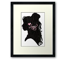 Amy Winehouse Silhouette  Framed Print