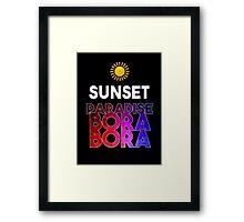 Sunset Paradise Bora Bora Framed Print