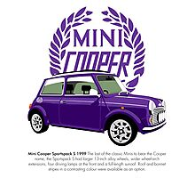 Classic 1999 Mini Cooper S Sportspack Photographic Print
