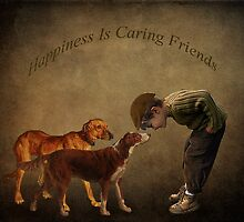 Happiness Is Caring Friends by Laura Retyi