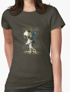 Raining Meteor In Space Womens Fitted T-Shirt
