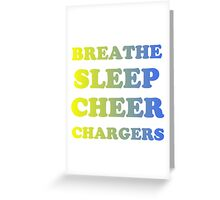 CHARGERS FOOTBALL Greeting Card