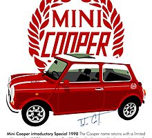 Classic 1990 Mini Cooper Special red by car2oonz