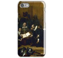 Embarkation of the Pilgrims  iPhone Case/Skin