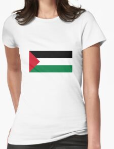 Palestine Flag Womens Fitted T-Shirt