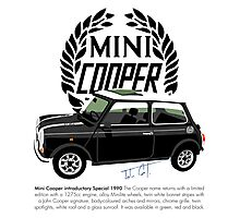 Classic 1990 Mini Cooper Special black Photographic Print