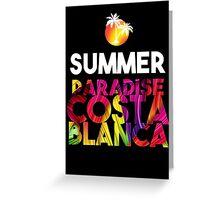 Summer Paradise Costa Blanca Greeting Card