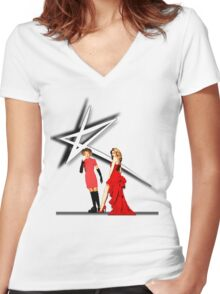 Kylie Minogue - 80s to now Women's Fitted V-Neck T-Shirt