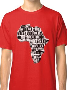 Where You Live - Africa (white) Classic T-Shirt