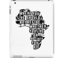 Where You Live - Africa (white) iPad Case/Skin