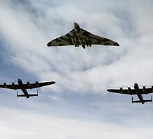 Three Avro bombers by Gary Eason